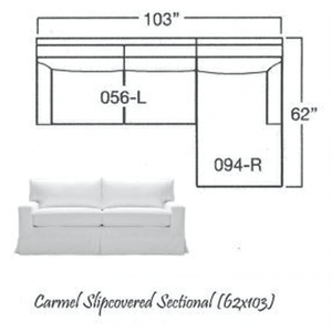 Carmel Slipcovered Sectional-1 Slipcovered Sectional