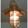 Ship Brass Hanging Light With Shade