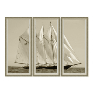 Yacht Triptych Set of 3 Giclee
