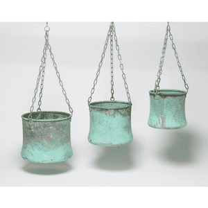 Verdigris Copper Hanging Pots Planter