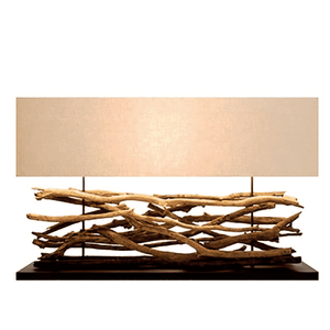 Raw Teak Sticks Lamp Lamp