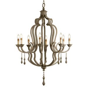 Scarborough Grey Wash Wooden Chandelier Chandelier