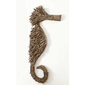 Large Driftwood Sea Horse Wall Decor