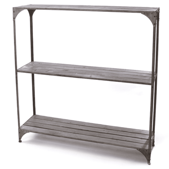 Rect 3-Shelf Wood Rack