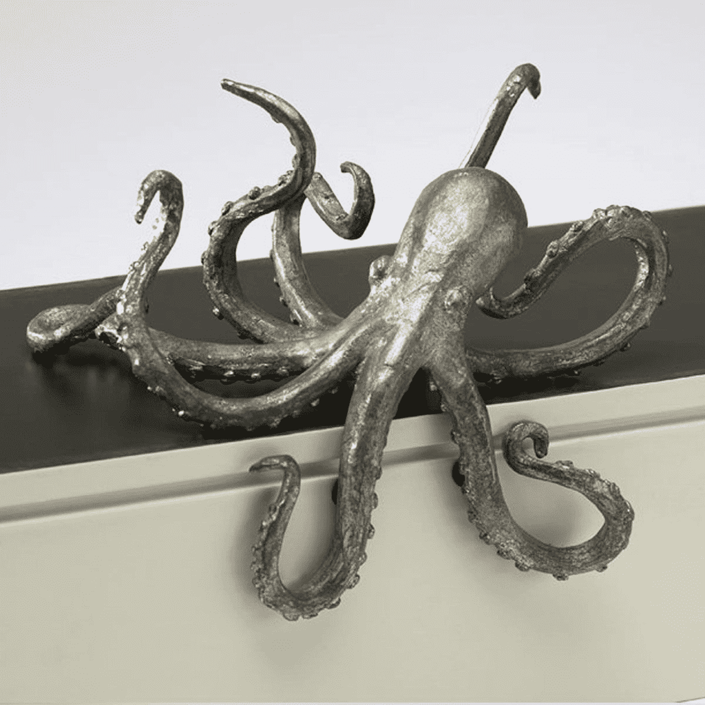 Pewter Octopus Shelf Decor Decor