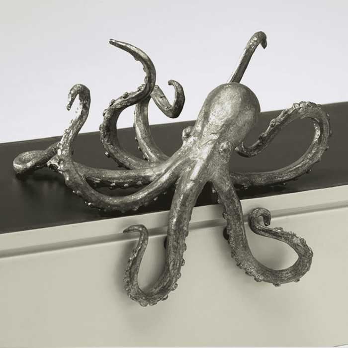 Pewter Octopus Shelf Decor