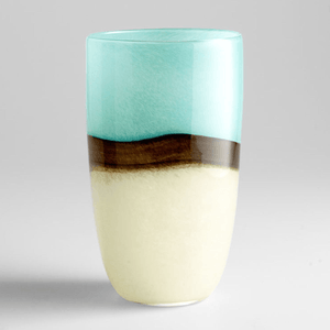 Large Turquoise Earth Vase Decor