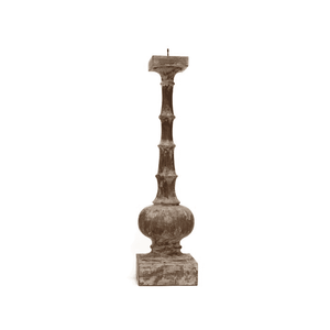 "Battista Candlestick LG -H:27"" Base W:7"", SM-H:20""-Base:6"" Decor"