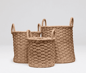 Wicker Nesting Baskets S/3 Basket