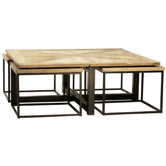 "Tinsley 5-pc Nesting 44"" Square Coffee Table"