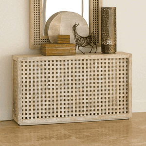 Driftwood Lattice Console Console