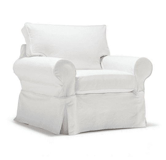 "Nantucket II 39"" Slipcovered Stationary Chair"