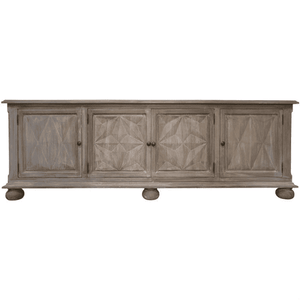 "Theodore 87"" Weathered Four-Door Sideboard Sideboard"