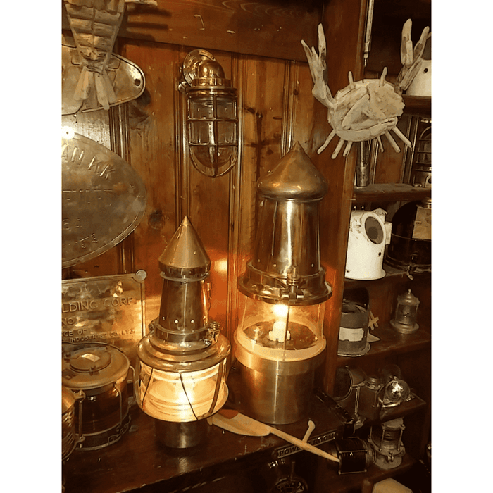 Authentic Brass Buoy Lights - Two Sizes