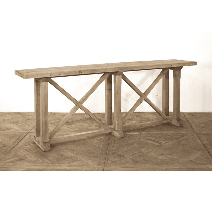 Reclaimed Pine Trestle Console Table