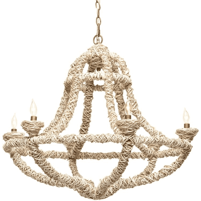 Francesca Natural Fiber Chandelier