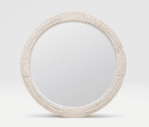 White Washed Round Rope Mirror Mirror