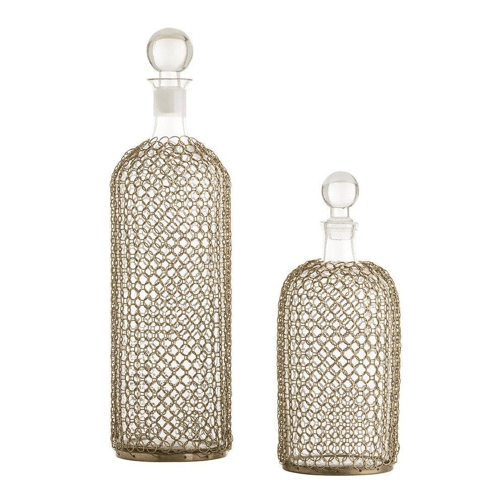 Drift Net Decanters Set of 2 Entertaining
