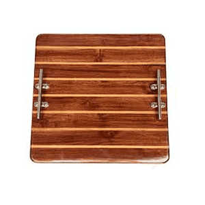 Handcrafted Square Wood Plank Tray Entertaining