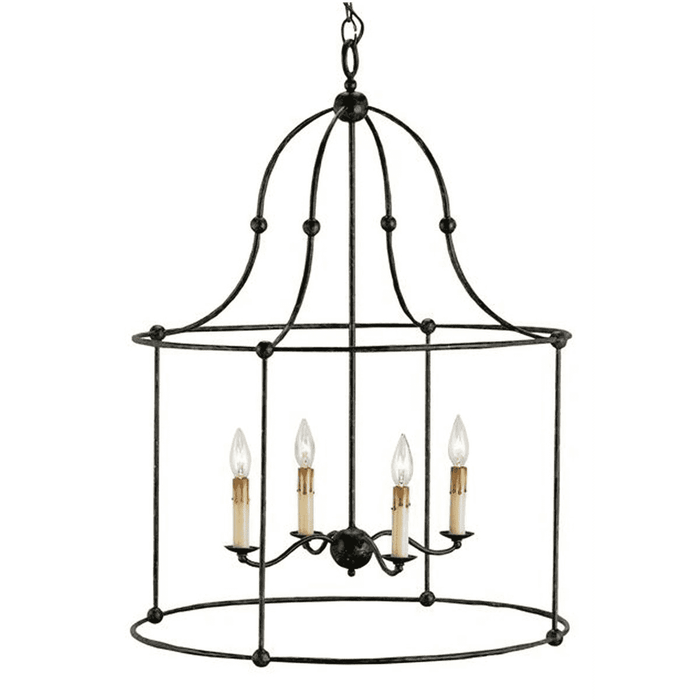 Birdcage Wrought Iron Lantern (Two Sizes & Two Finishes)