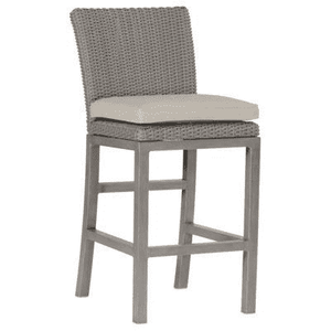 "Malibu Outdoor Wicker 24"" Bar Stool Outdoor Furniture"