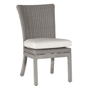 Malibu Outdoor Weathered Wicker Side Chair Outdoor Furniture