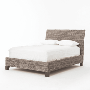 Banana Leaf Gray Wash Bed - Two Sizes Bed