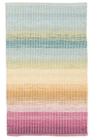 Watercolor Horizon Woven Cotton Rug Rug 2'x3'