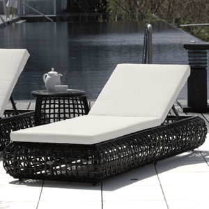 Dune Road Outdoor Chaise Lounger With Canvas Cushion Outdoor Furniture