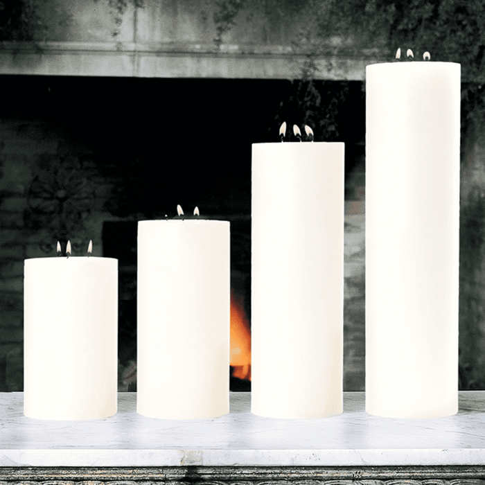 "Maester 3-Wick 5"" Diametet Pillar Candle - Four Heights Available"