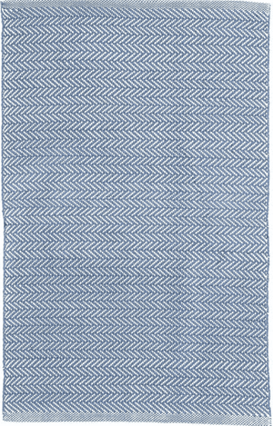 Herringbone Denim Indoor/ Outdoor Rug Rug 2'x3'