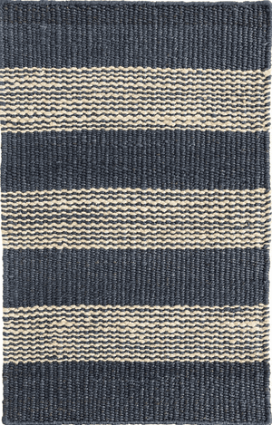 Denim Ticking Jute Woven Rug Rug 2'x3'