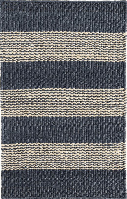 Denim Ticking Jute Woven Rug