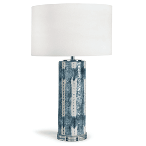 Indigo Shibori Ceramic Table Lamp Lamp