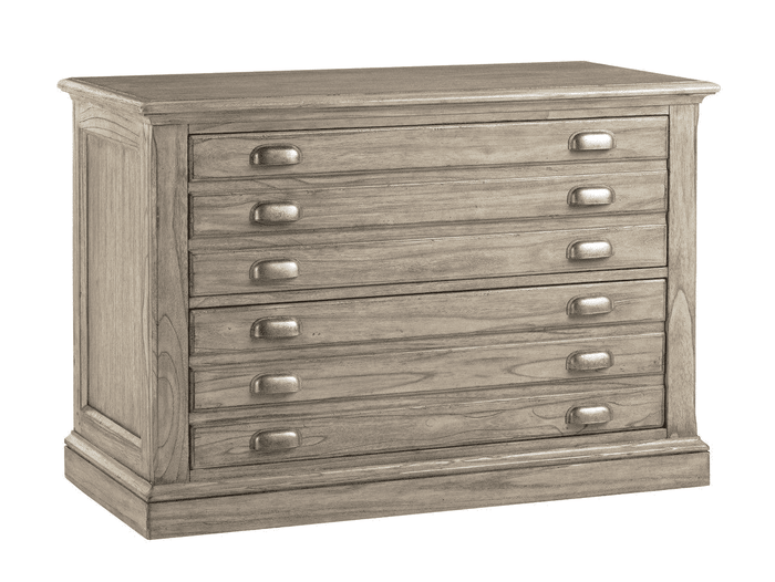 Hampton Gray Driftwood File Chest