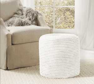 Rope Stool White Side Table