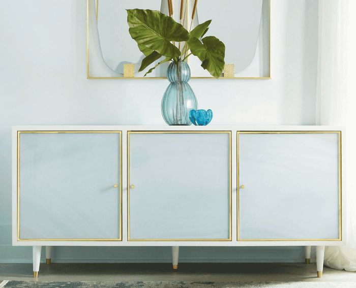 "Seaglass 70"" Three-Door Credenza"