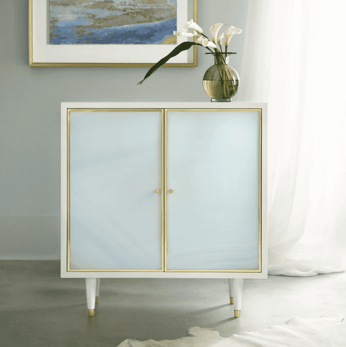 "Seaglass 35"" Two-Door Tall Cabinet"