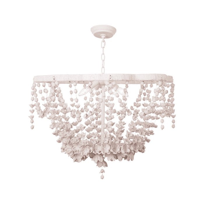 White Blooms Chandelier