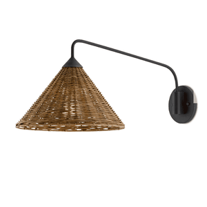 Brighton Rattan Swing Arm Sconce Sconce