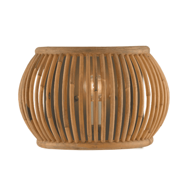 Anse Soleil Rattan Wall Sconce