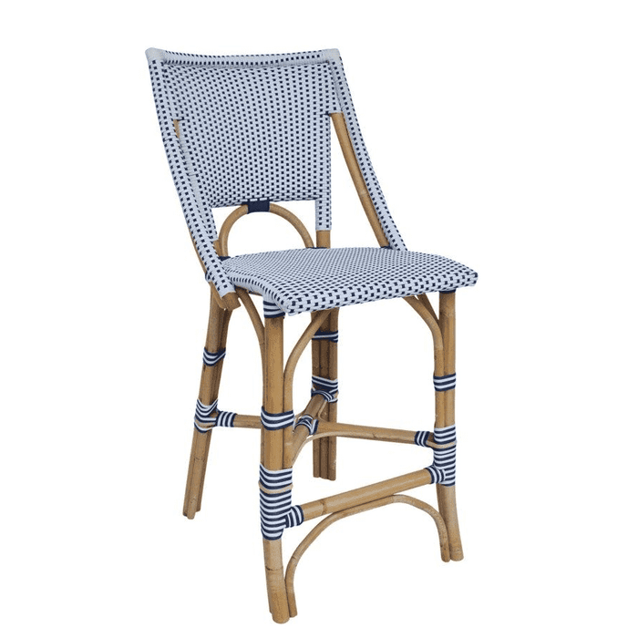 Bistro Counter Chair Navy & White
