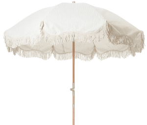 The Premium Beach Umbrella - Sage Stripe Beach