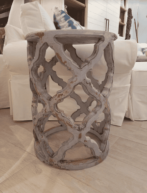 Starlight Lattice Side Table-Grey Side Table