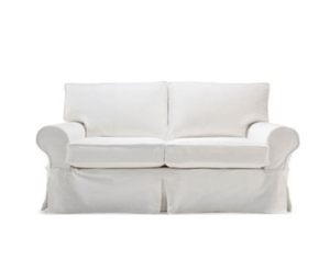 "Nantucket II 61"" Slipcovered Studio Sofa Slipcovered Loveseat"
