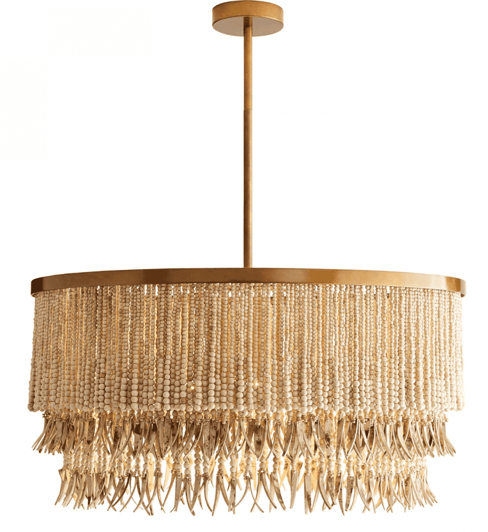 Amalfi Coast Natural Bead Chandelier