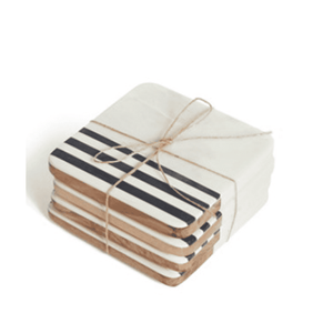 Antigua Marble Coaster s/4 Entertaining