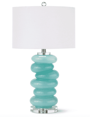 Aqua Glass Pebble Table Lamp Table Lamp