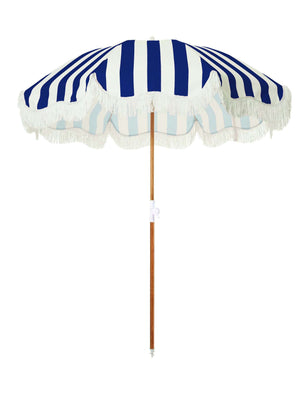 The Holiday Beach Umbrella - Navy Crew Stripe