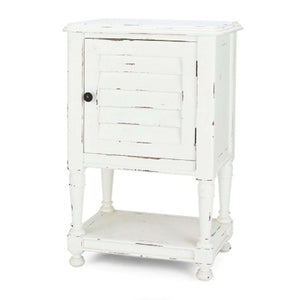 Bahama Style Petite Bedside Table in White Harvest- quick ship Nightstand